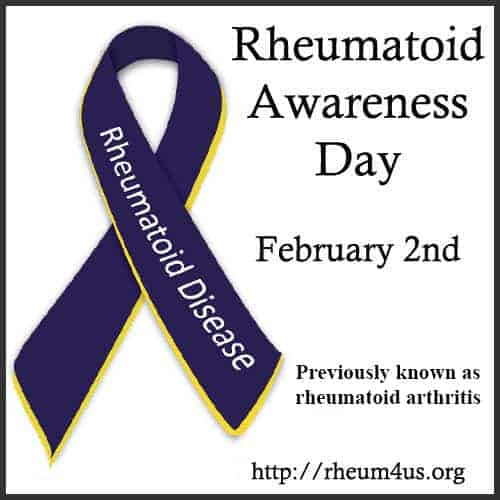 First Rheumatoid Arthritis Awareness Day is February 2nd