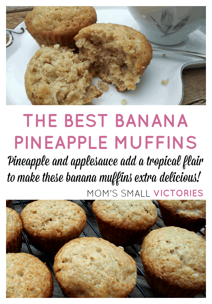 The Best Banana Pineapple Muffins. Pineapple & applesauce add a tropical flair to make these banana muffins extra delicious. Great for breakfast or warm them up and top with vanilla ice cream and a drizzle of caramel for a decadent, restaurant-style dessert.