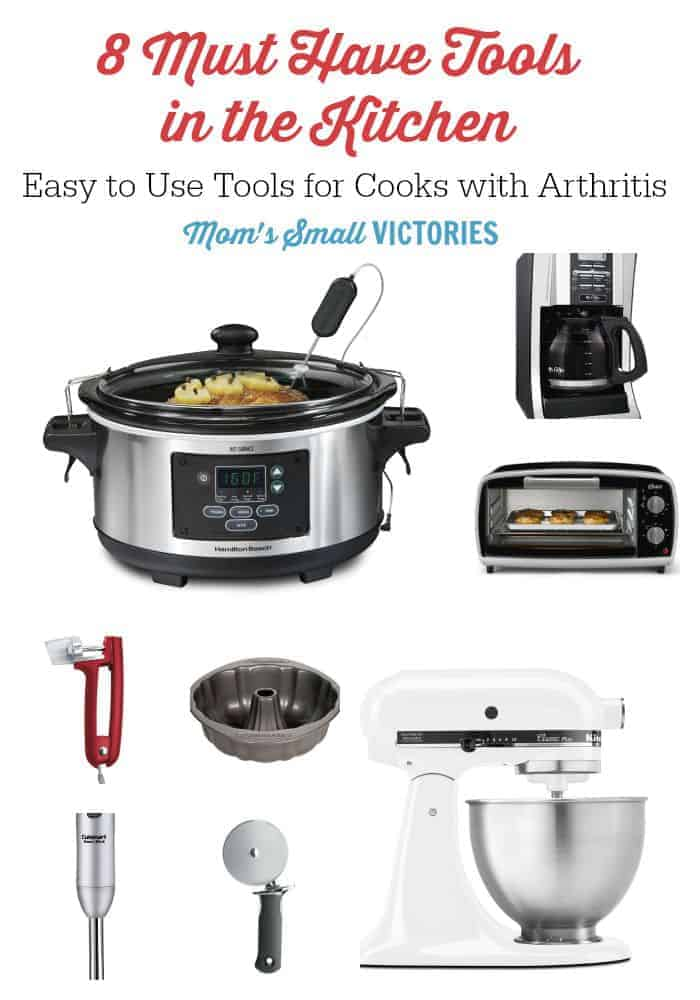 8 Must Have Tools in the Kitchen. These easy to use tools are especially helpful for cooks with arthritis.