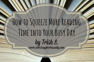 Great tips on getting more reading into your day