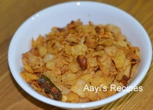 Photo Credit: Corn Flake Chivda from Aayi's Recipes