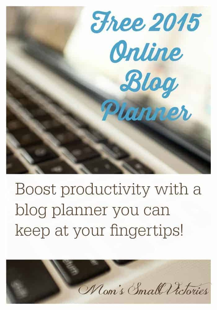 Free 2015 online blog planner can be used in Google Drive, Excel or printed