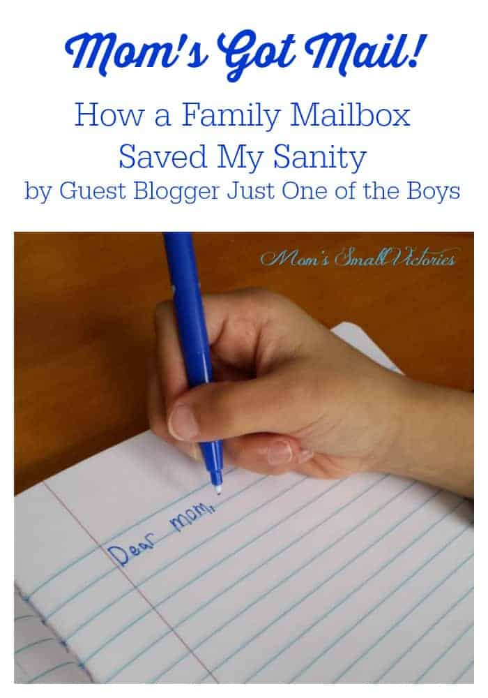 Mom's Got Mail. How creative parenting and a Family Mailbox Saved My Sanity by Guest Blogger Just One of the Boys.
