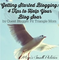 Be Our Guest Fridays {22}: Getting Started Blogging – 4 Tips to Help Your Blog SOAR by Fit Triangle Mom