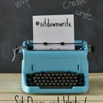 Sit Down and Write 6 is a write-a-thon running from April 1-15, 2015. No rules or pressure, whatever it is you want to write, just Sit Down and Write!
