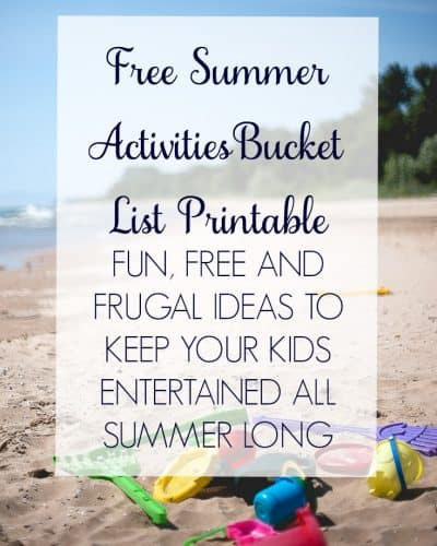 FREE Summer Activities Bucket List Printable