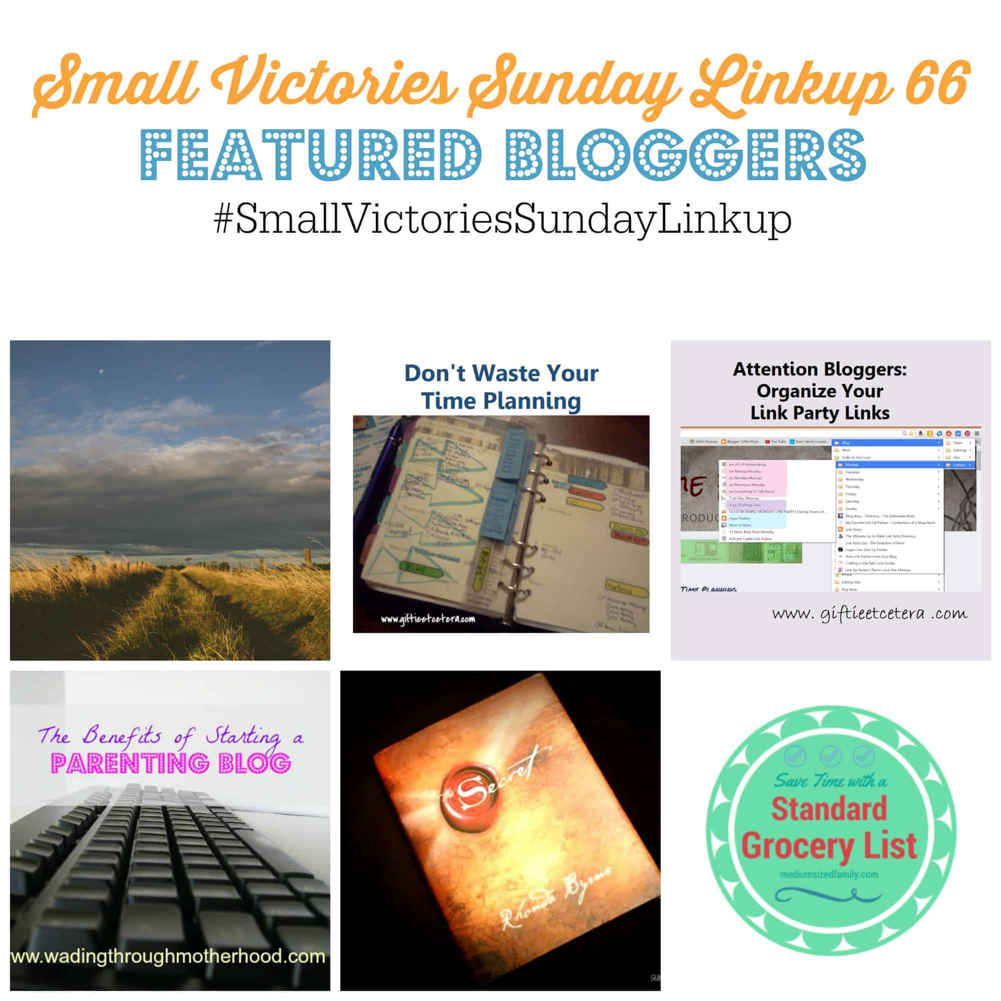 Small Victories Sunday Linkup {67}