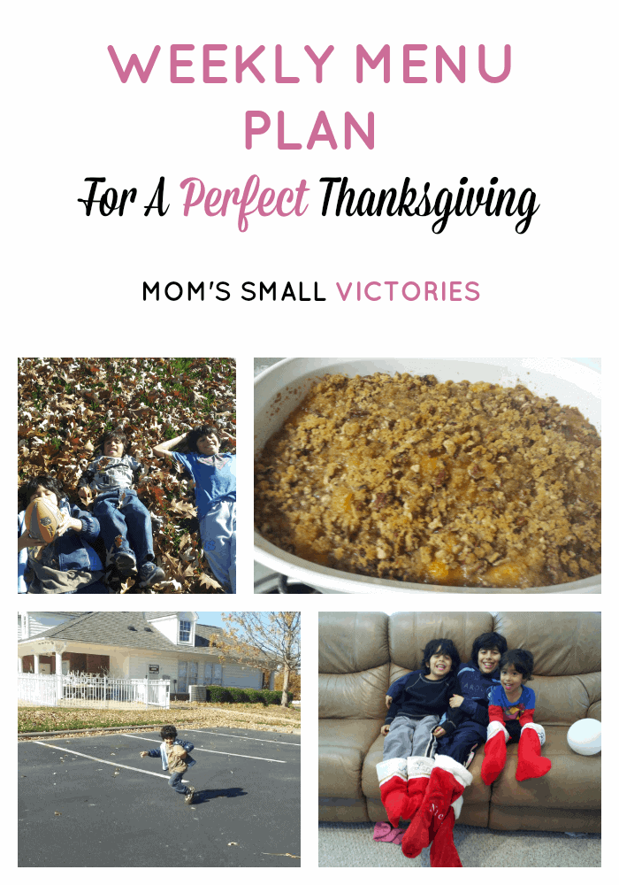 My Weekly Menu Plan for a Perfect Thanksgiving. Recipe Links and the key to a perfect, stress free Thanksgiving.