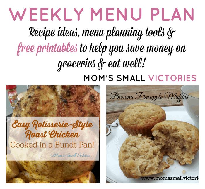 Weekly Menu Plan – Nov. 30, 2015