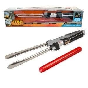 Fire up the grill. Any Star Wars fan would love grilling with these Lightsaber BBQ tongs