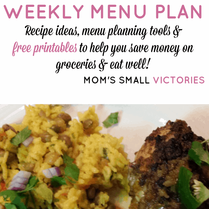 Weekly Menu Plan – Dec. 3, 2015