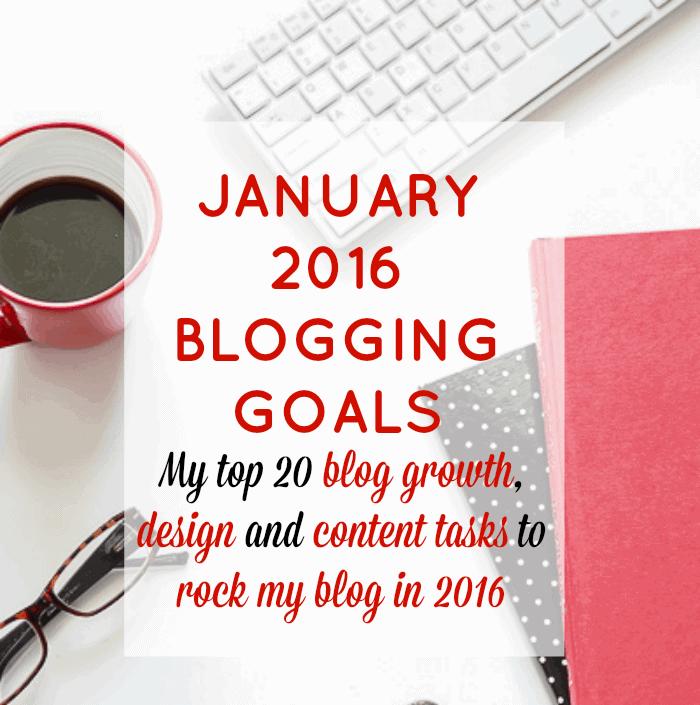 January 2016 Blogging Goals
