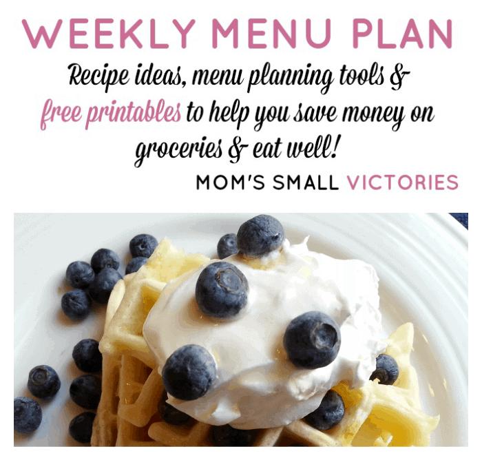 Weekly Menu Plan – Jan. 5, 2016