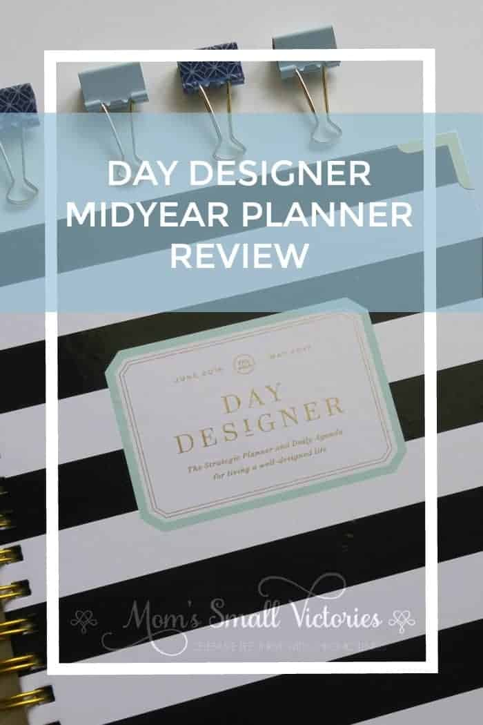Day Designer Midyear Planner Review. Peek inside my Day Designer and see the pros and cons for this planning system. The Day Designer includes fabulous vision and goalsetting pages to help you design the life you want and the daily calendar pages to help you track the tasks and time you need to turn those goals into reality.