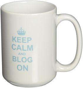 Keep Calm and Blog on mug