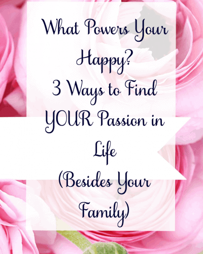 What Powers Your Happy? + 3 Ways to Find YOUR Passion in Life (Besides Your Family)