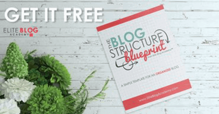 The Blog Structure Blueprint is one of my 5 Epic Free Resources You Need to be a Successful Blogger Now because it helps get your blog structured and organized so that readers can find exactly what they need. Having an organized blog helps optimize your reader's experience and showcase what your blog is really about.