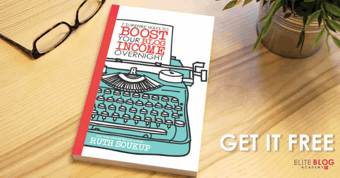 7 Surefire Ways to Boost Your Blog Income Overnight is one of my 5 Epic Free Resources You Need to be a Successful Blogger Now. With simple instructions on optimizing your blog posts and pursuing multiple revenue streams to allow you to start turning your passion for blogging into profit.