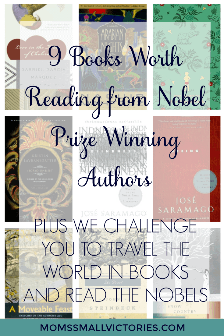 9 Books Worth Reading from Nobel Prize Winning authors and the April 2017 Travel the World in Books & Read the Nobels Event