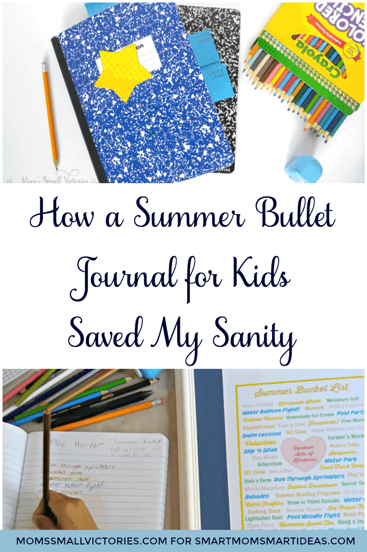 How a Summer Bullet Journal for Kids Saved my Sanity. The summer bullet journal for kids is a simple and inexpensive tool to keep kids productive and entertained all summer long.