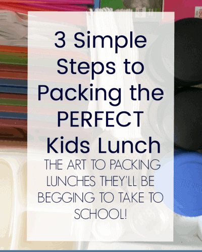 3 Simple Tips for Packing the Perfect Kids Lunch That Your Kids Will Love!