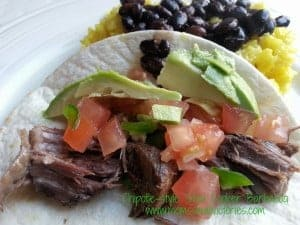Chipotle-style Slow Cooker Barbacoa Tacos
