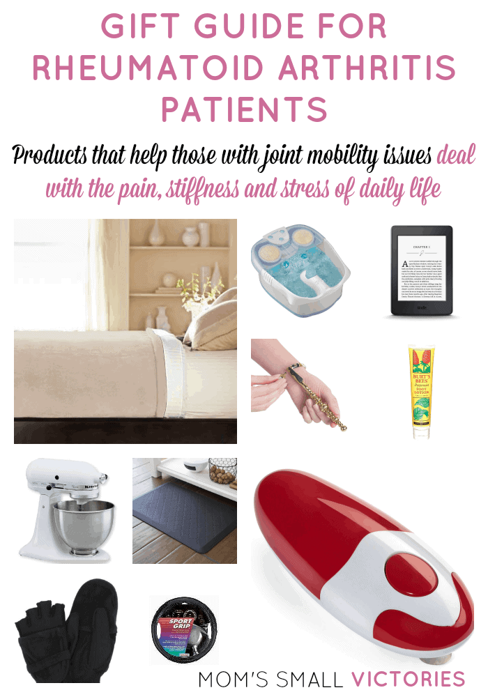 Gift Guide for Rheumatoid Arthritis Patients. Products that help those with joint mobility issues deal with the pain, stiffness and stresses of daily life.