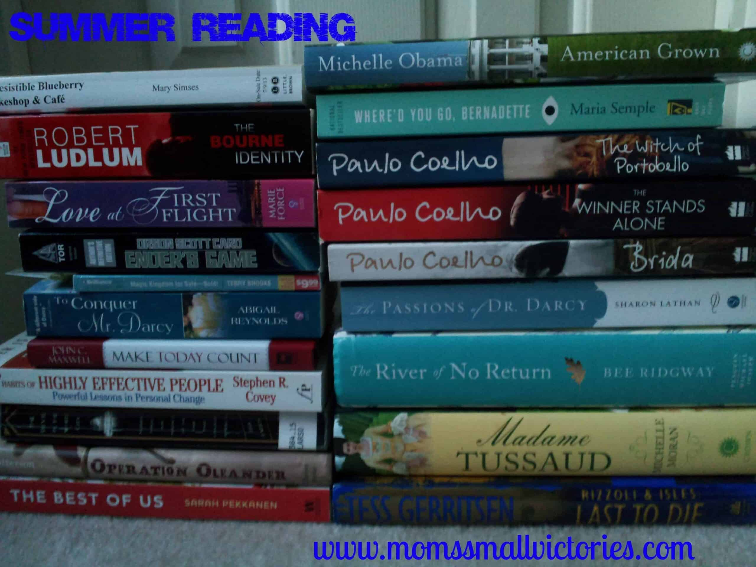 Summer Reading List: Giveaways won, Where do I Start and What's on Your List?