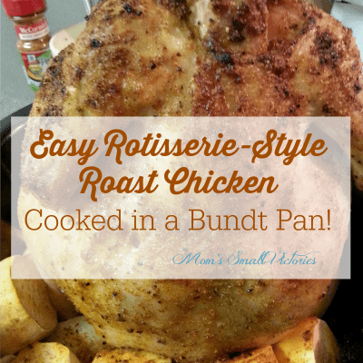 Easy Rotisserie Style Chicken Cooked In A Bundt Pan #Recipes