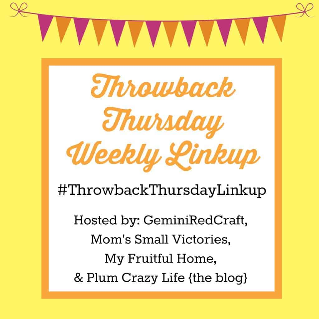 Throwback Thursday Linkup {28} - Mom's Small Victories