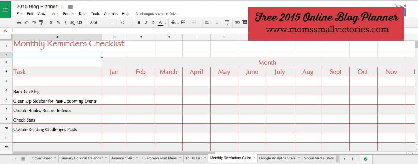 online monthly planner