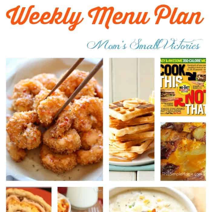 Menu Plan – Feb. 9. 2015
