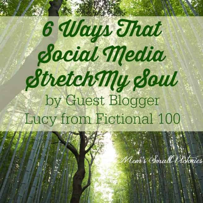 6 Ways That Social Media Stretch My Soul by Guest Blogger Lucy from Fictional 100. How social media helped this introverted author promote her book and her personal growth.