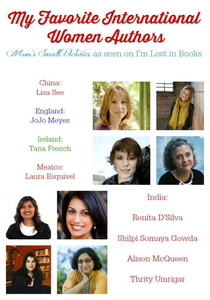 My favorite international women authors. I'm celebrating Women's Lit Month by guest posting at I'm Lost in Books for her Women's Lit Event. Check out these talented and amazing international women authors representing China, England, Ireland, Mexico and India.