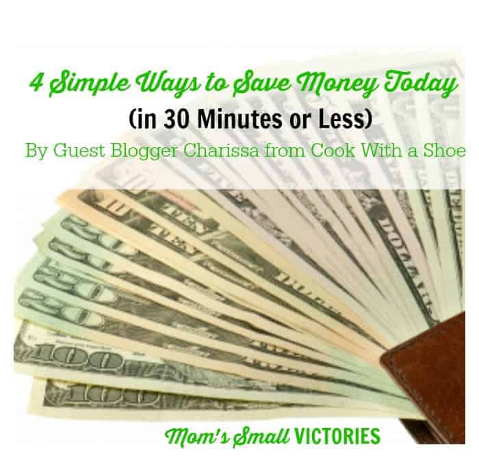 Be Our Guest Fridays {29}: 4 Simple Ways to Save Money Today from Cook with a Shoe