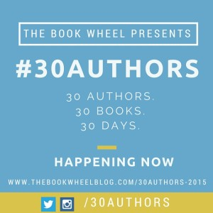 30 Authors, 30 Books, 30 Days, Sept 2015. Author of <em srcset=