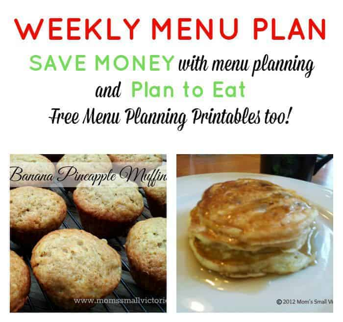 Weekly Menu Plan – Sept. 25, 2015