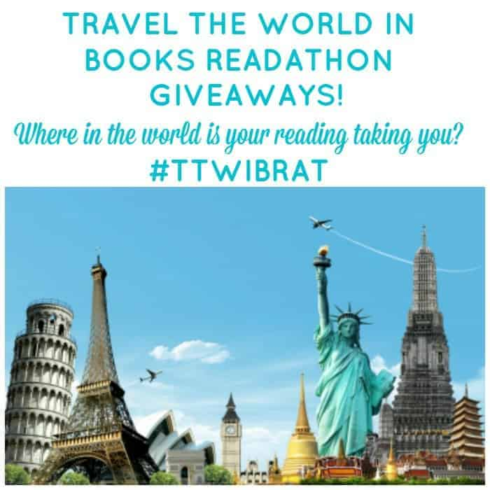 Travel the World in Books Readathon Oct 2015 Giveaways! Sign up and enter to win one of 11 great books from around the world.