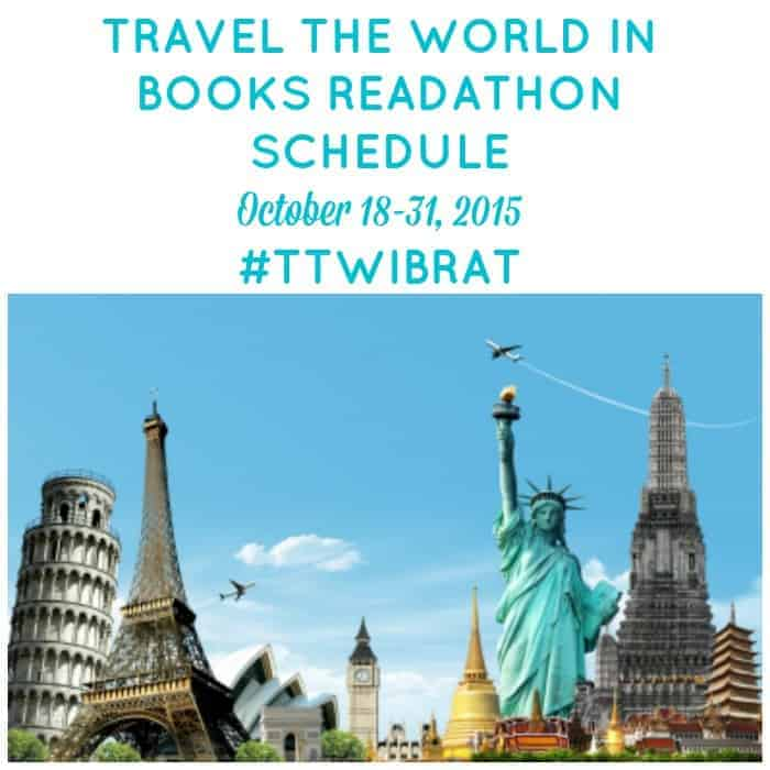 Travel the World in Books Readathon Schedule for October 18-31, 2015. Read as much as you can to explore other countries and cultures. Check out our schedule of mini-challenges, Twitter chats, daily discussion topics and more to get you talking about the world's best books.