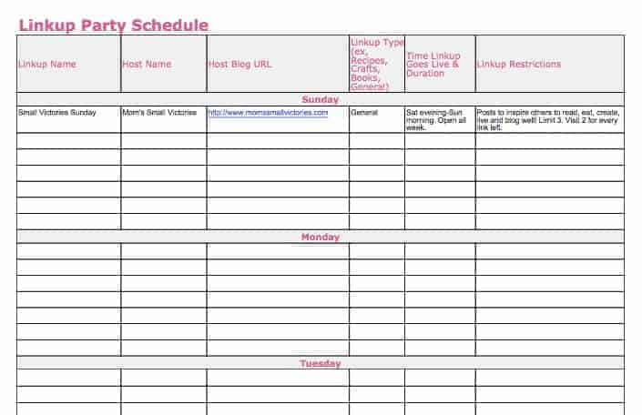 Linkup party schedule in my 2016 free blog planner. Track when your favorite linky parties go live and the requirements for participation with this handy linky party schedule. Available for download in Google Drive, Excel or PDF.