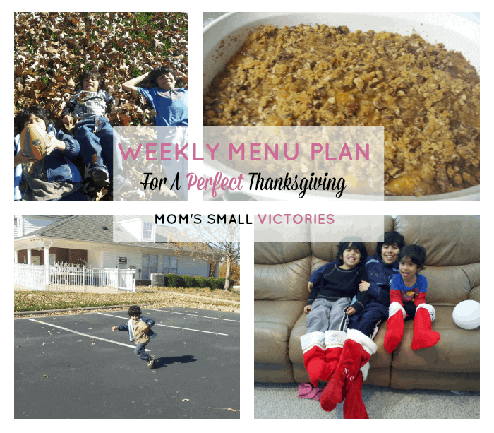 Weekly Menu Plan For a Perfect Thanksgiving