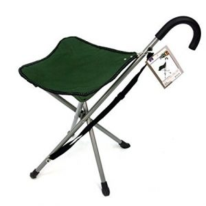 This cane chair is a lifesaver for those with Rheumatoid Arthritis, painful feet or joint mobility issues. As light as an umbrella, this chair serves as a cane for walking and an instant chair whenever and wherever you need it. A perfect gift for those with Rheumatoid Arthritis, painful feet or joint mobility issues.
