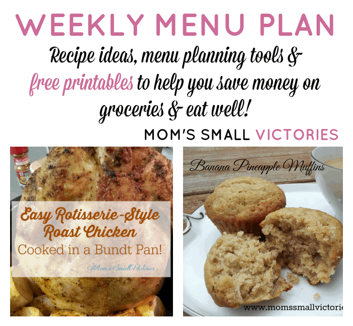 Weekly Menu Plan – Nov. 30, 2015