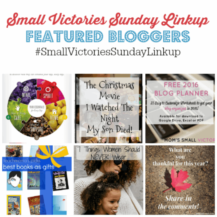 Small Victories Sunday 79 Featured Bloggers