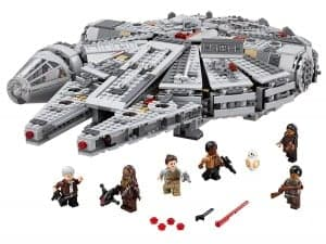 The Millennium Falcon Legos provide hours of fun building and playing with the figures inside the ship.