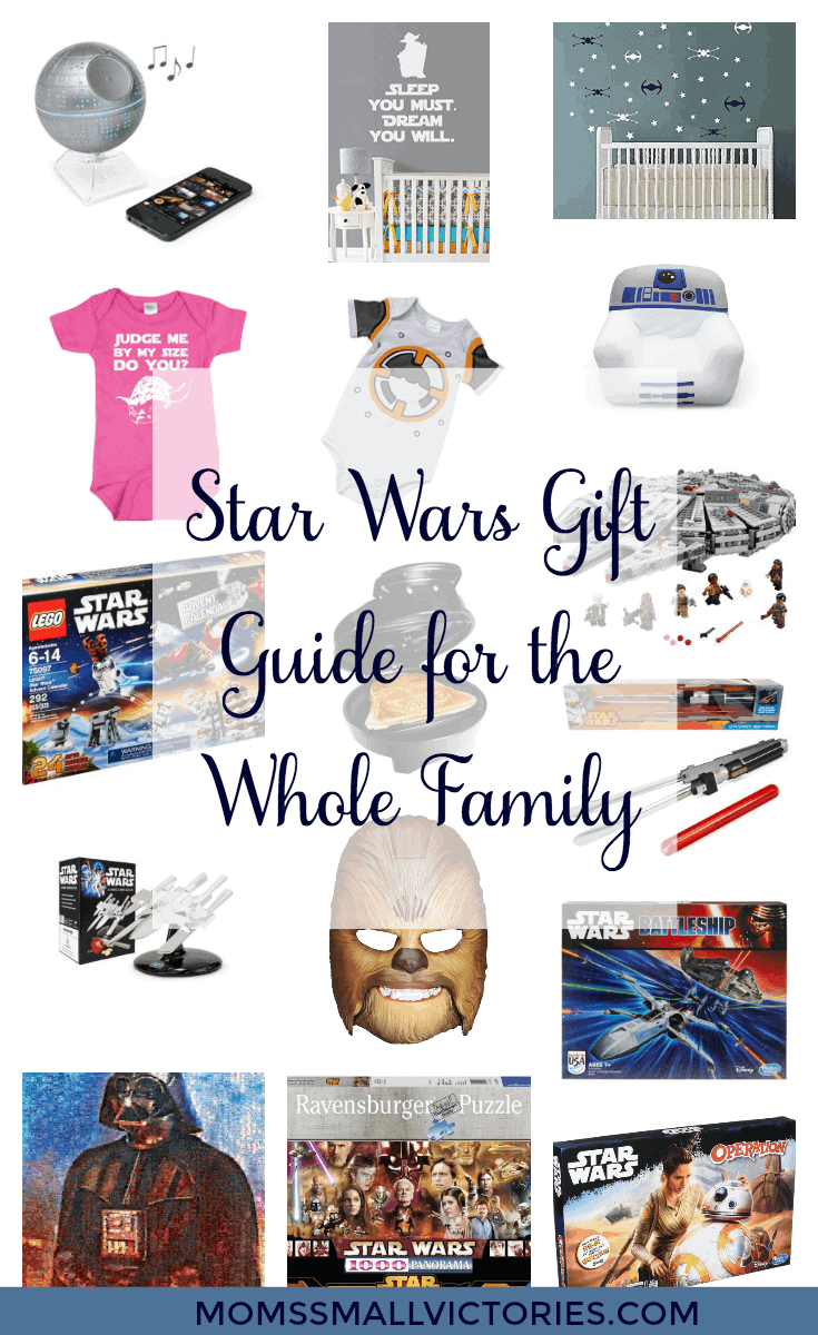 Star Wars Gift Guide for the Whole Family from the wee Jedi to the oldest Yoda master, these gift are sure to please families of Star Wars fans!