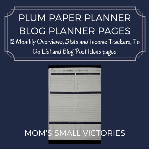 Plum Paper Planner Blog Planning Pages: 12 monthly overviews, stats and income trackers, to do lists and blog post ideas pages.