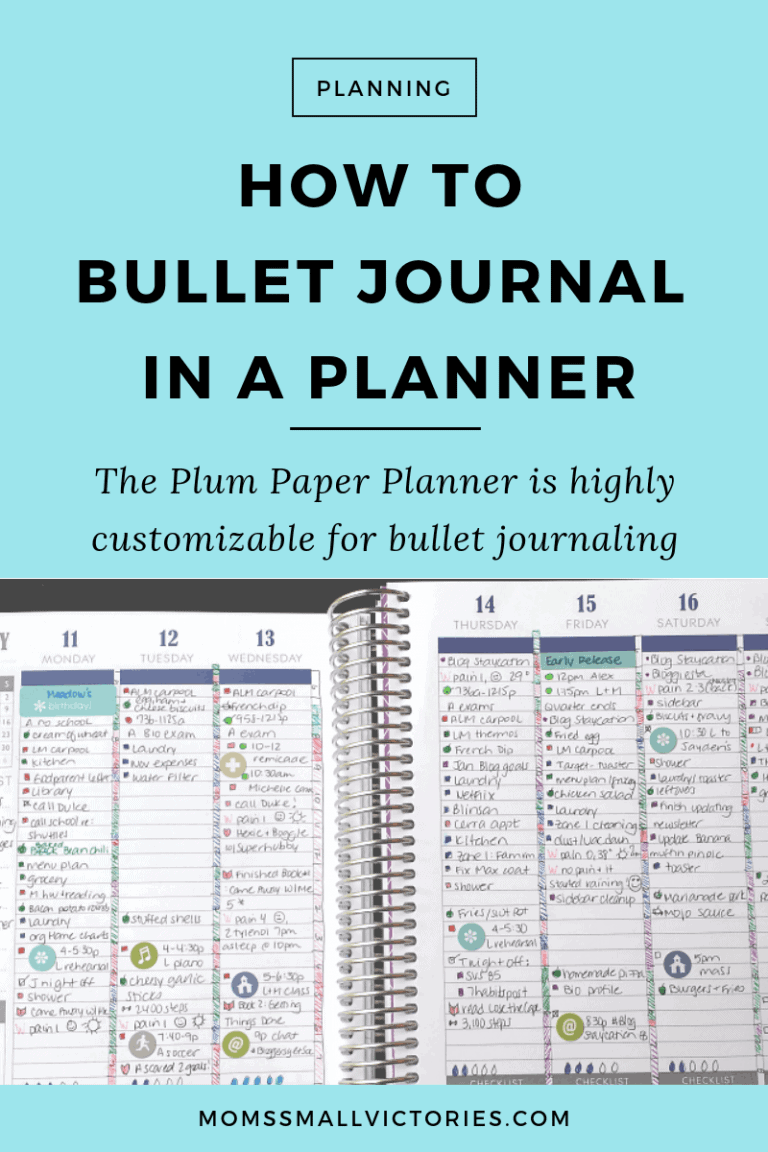 How To Bullet Journal In A Planner: The Customizable Plum Paper Planner Makes a Great Bullet Journal
