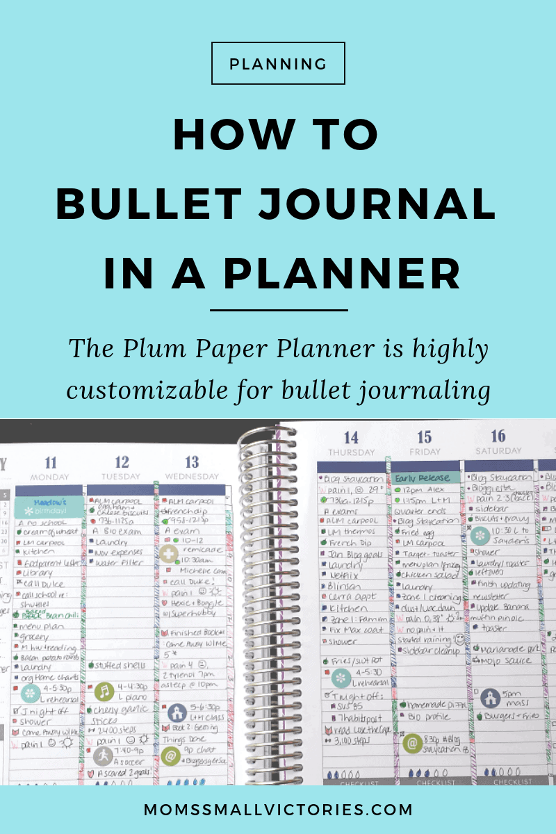 best planner for bullet journaling because of your ability to customize your entire planner to suite your needs and lifestyle. You can customize everything from the cover, layout and binding to add-on worksheets for dedicated checklists, to do lists, home management, business, lifestyle and education. You can build your perfect bullet journal in a planner.