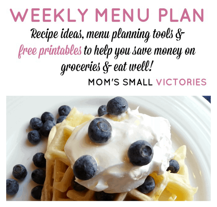 Weekly Menu Plan – Jan. 5, 2016